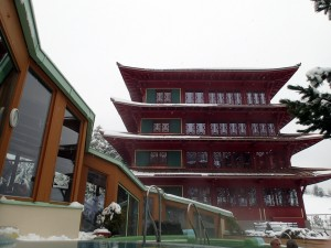Der Chinaturm des Hotel Hochschober