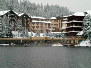 Das Hotel Hochschober liegt direkt am Turracher See in Kärnten