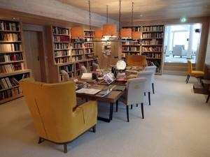 Die Bibliothek im Hotel Hochschober auf der Turracher Höhe