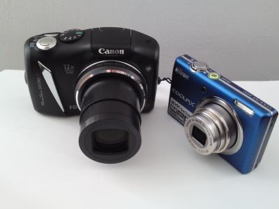 Die Canon PowerShot SX 130 IS im Größenvergleich