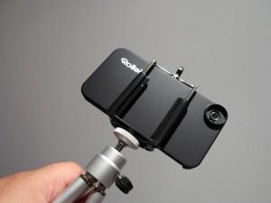 Die Stativhalterung für das Rollei 8fach Teleobjektiv