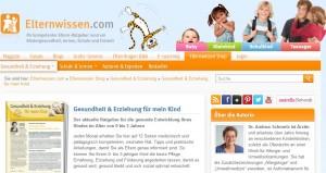 Auf Elternwissen.com gibt es jede Menge Infos für Eltern (Screenshot: Elternwissen.com)