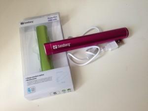 Praktisches Aufladen per USB unterwegs mit einer Sandberg PowerBar